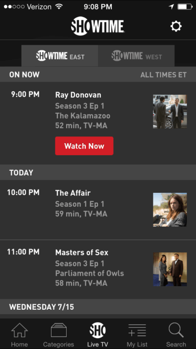 showtime without cable
