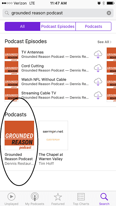 Select Grounded Reason Podcast