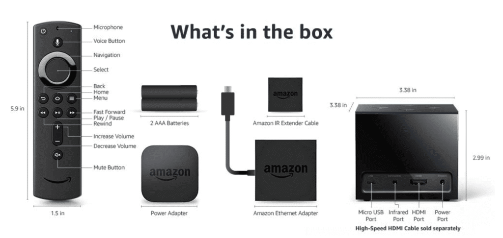 fire tv cube in box