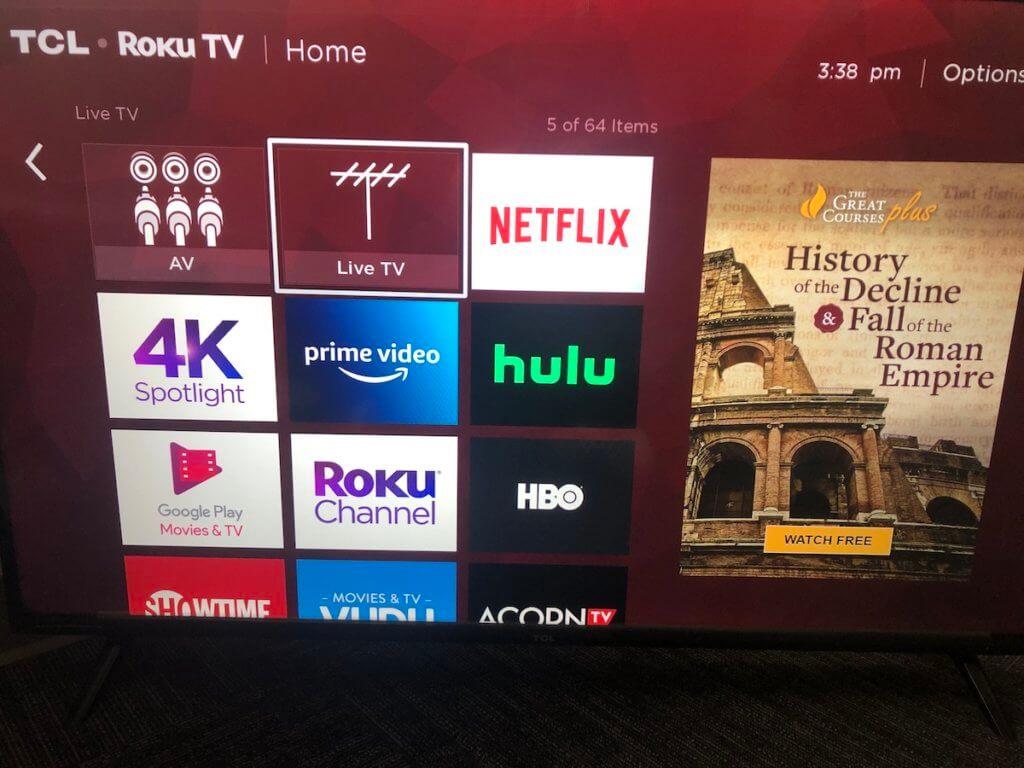roku TV live TV app