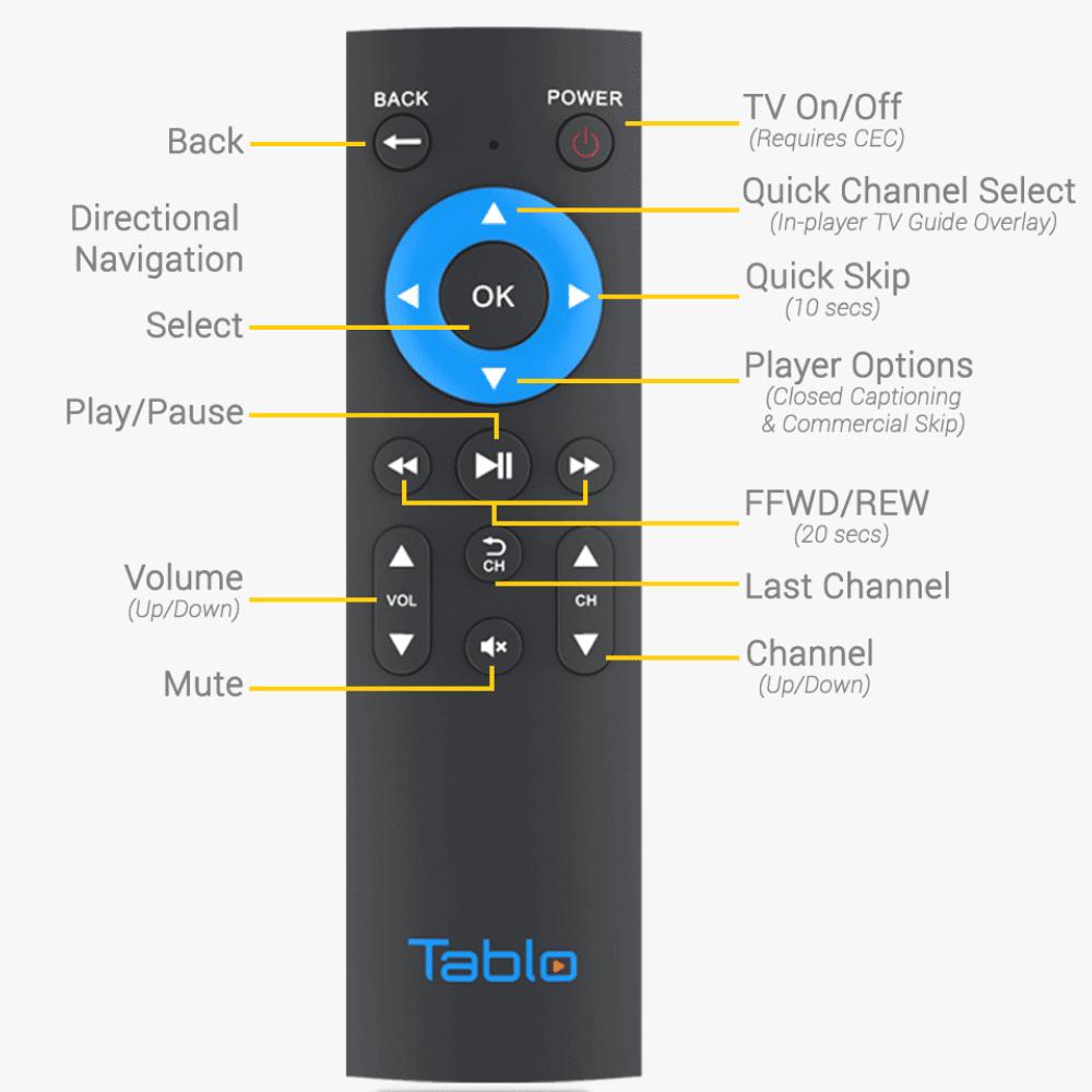 tablo remote