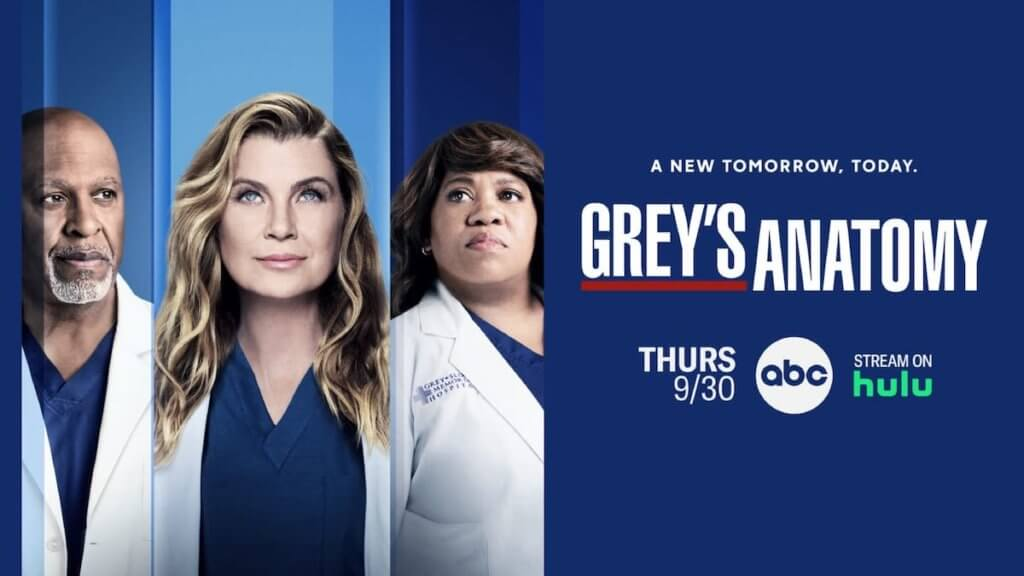 Poster of three lead characters from Grey's anatomy