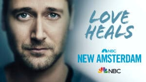 photo of actor from New Amsterdam series looking at camera