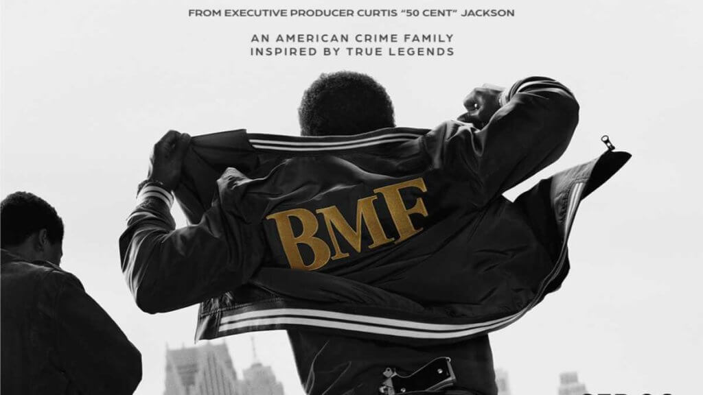 BMF show logo with 2 figures facing away from camera