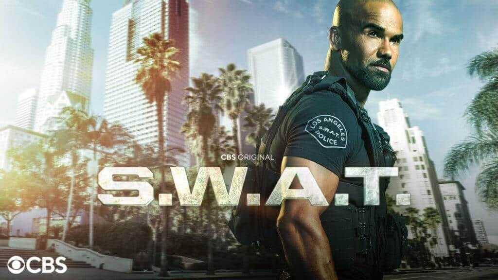 SWAT officer and logo