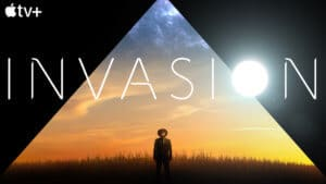 logo for Invasion with man looking up to the sky