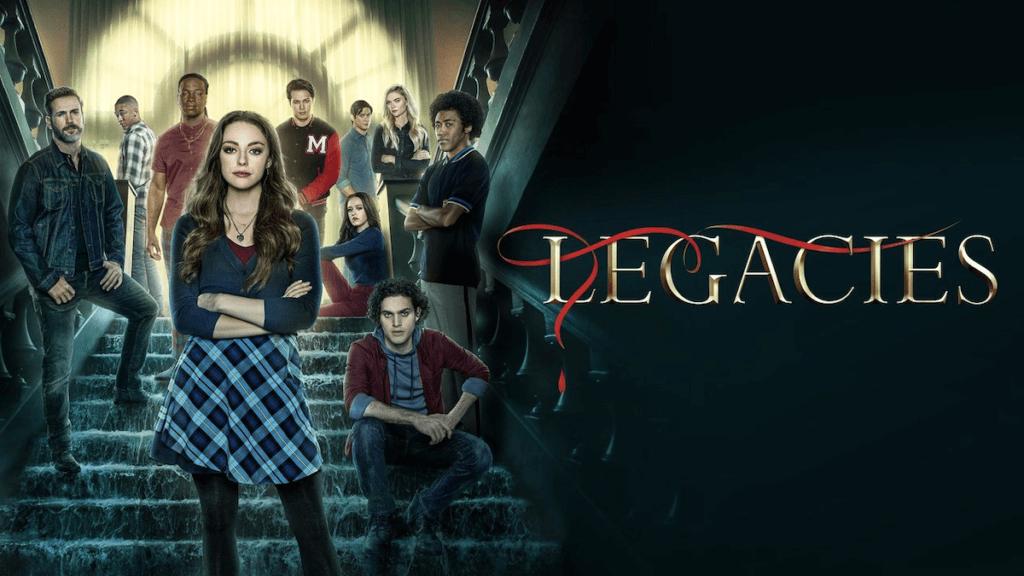cast and show logo for Legacies