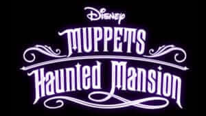 muppets haunted mansion logo text